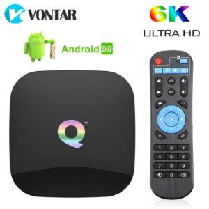 Boîtier Smart TV Q Plus, Allwinner H6 Quad Core, 6K,
