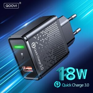 Chargeur USB 18W, prise ue QC 3.0, Charge rapide