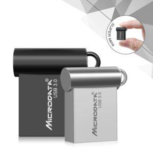 Mini clé USB 3.0 étanche en métal avec chaîne