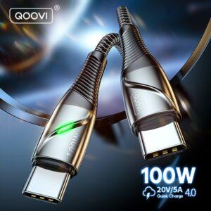 QOOVI 100W USB C à Câble USB Type C