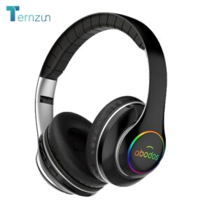 Ternzun- Casque d'écoute sans fil bluetooth avec lumière LED, autonomie 20 h